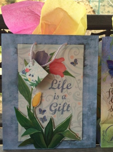 This Gift Bag is a reminder that YOUR Life is a Gift!  And God has given the Whole World The BEST Gift...The Hope of Eternal Life through faith and trust in His Son!