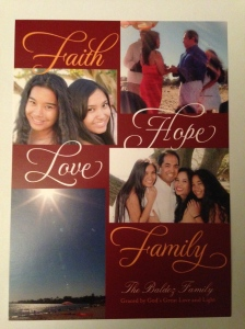 "Enjoy a ""Christmas in July"" Christmas Card as we Celebrate Christmas 365 Days a Year with Faith, Hope, Love & Family"